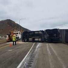 100 Semi Truck Echo Junction On Interstate 80 Sees Two Semitruck Rollovers In