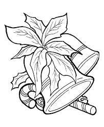Candy Cane Coloring Pages And Christmas Bell