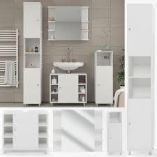 vicco badmöbel set badmöbel set fynn badezimmer spiegel kommode unterschrank bad weiß kaufen otto