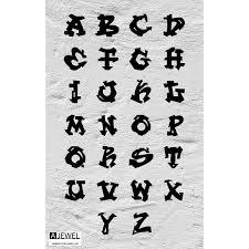 Graffiti Alphabet Letter Necklace A Jewel