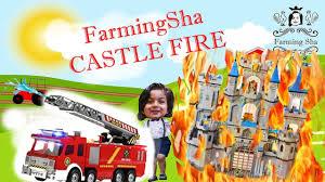 100 Fire Trucks On Youtube FarmingSha Toy Store Castle Fun Fun New YouTube