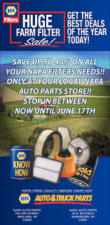 Huge Farm Filter Sale, Napa Auto Parts - Ashland, Washburn, Ashland, WI