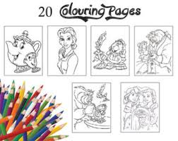 Children Colouring Pages 20 Assorted Of Beauty And The Beast