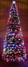 7ft Slim Led Christmas Tree by Slim Fibre Optic Christmas Tree Fiber Optic Christmas Tree 7ft