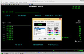 Setting Up The Colors Property For IBM AS400 TN5250 Emulation