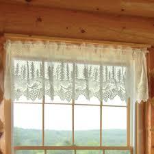 Battenburg Lace Curtains Ecru by Pine Cone Lace Tier Window Treatment