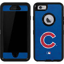 Chicago Cubs Solid Distressed OtterBox Defender iPhone 6 Skin