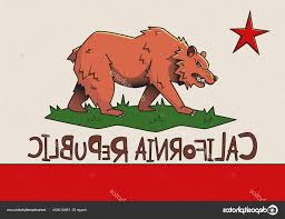 California Republic Flag Vector Stock Illustration Stylized Of State