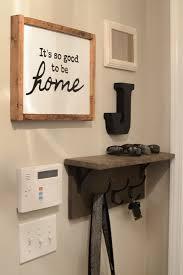 Mudroom gallery wall DIY coat rack shelf