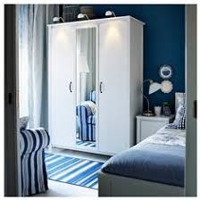 Ikea Brusali Chest Of Drawers by Brusali Wardrobe With 3 Doors White 131x190 Cm Doors Drawers