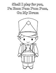 Drummer Boy Play Drum For You Colouring Page Coloring