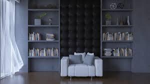 3d rendering wohnzimmer viele dekorationsgegenstände platz