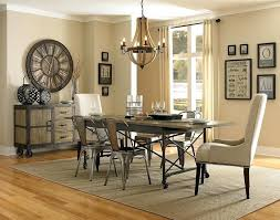 Industrial Living Room Set Dining With Rectangular Table Caster Wheels Wire