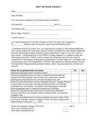 2018 Rent Increase Letter Fillable Printable PDF & Forms