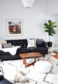 Black Leather Couch Decorating Ideas by Fabulous Black Leather Couch Decor With Best 20 Leather Couch
