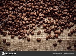 Coffee Beans Border On Burlap Fabric Background Photo By Nik Merkulov