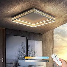 led deckenleuchte dimmbar rechteckig deckenle mit fernbedienung modern dekorative lichteffekte wohnzimmerl 68 watt led frame cct