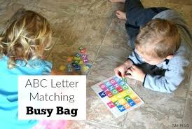 Fun Learning Activities For Preschoolers Letter Matching Busy Bag Preschool Great At Home