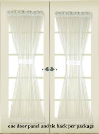 Striped Sheer Curtain Panels by Atlantic Stripe Grommet Top Sheer Patio Curtain Panel