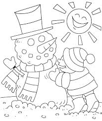 Preschool Winter Coloring Pages Printable Clothing For Preschoolers