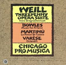 cuisine revue weill threepenny opera suite bowles for a farce martinu