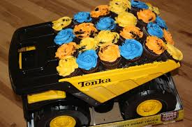 100 Tonka Truck Birthday Party Dump Cupcakes Did These For A Little Boy Turning Two Mom