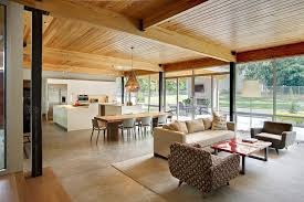 Open Floor Plans Living Room Contemporary With Concrete Casual Dining Side Chairs