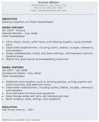 Sample Resume For Housekeeping Job In Hotel Best Example
