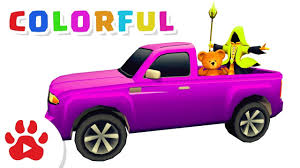 100 Pick Up Truck Song COLOR PICKUP TRUCK Super Cars For Kids H Colour For Kids