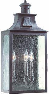 newton fluorescent light outdoor wall sconce in bronze by troy