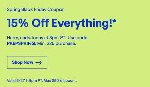EBay Shares Another Spring Savings Coupon With 15% Off ...