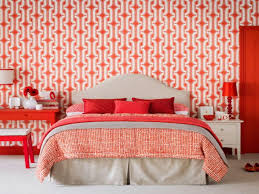 Endearing Bedroom Decoration Checklist Using Red Theme Completed With Modern Double Bed On White Floor