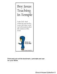 Boy Jesus 12 Years Old Teaching In Temple Bookmark
