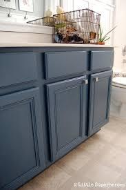 blue bathroom cabinet boys bathroom makeover blue painted