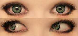 Theatrical Contacts Prescription by Geo Super Size Angel Green Circle Lenses Colored Contacts