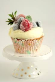 These Frosted Berry Cupcakes With An Orange Mascarpone Buttercream Feature A Fluffy Cake Topped