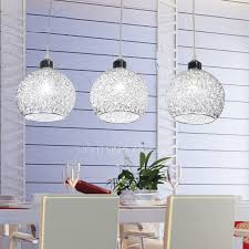 3 light silver shade multi pendant lights for living room