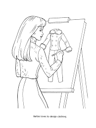 Barbie Fashion Coloring Pages Kids