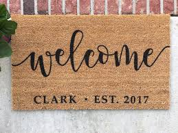 Personalized Doormat Hand Painted Door Mat Personalized