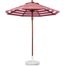 9 Ft Patio Umbrella With Crank by Frankford Patio Market Umbrella 9ft Spf 50 Wooden Pole