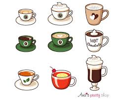 Hot Drinks Clipart Cups Espresso American Coffee