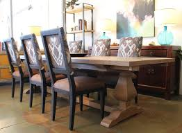 Segovia Reclaimed Wood Trestle Dining And Custom Dining Chairs ... Custom Ding Chairs Ervelabco Custom Ding Chair C1615 This Vintage Set Has A White Wash Thrghout And Hollywood Table Chairs Mortise Tenon Room Set With Fniture Home T30 Vintage Oak Enjoyable Design Covers Saloom Model 108 Upholstered Natural Straw Upholstery Best Decor With Fantastic Canadel Brings Richness Accent To Your Beneficial Gourmet Customizable Rectangular Leg