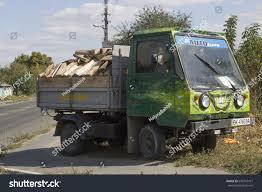 Kiev, Ukraine - April 22: Brightly Green Truck With Funny Graffiti ...