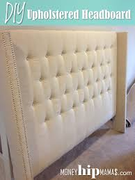 King Size Tufted Upholstered Headboard 38 Cool Ideas For Wingback by Money Hip Mamas Diy Upholstered Headboard With Nailhead Detailed Arms