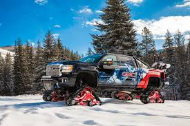 2018 GMC Sierra HD Takes On Snow-covered Mountains With Rubber ... Mountain Grooming Equipment Powertrack Systems For Trucks Extreme Hagglunds Track Building Youtube Suzuki Mini Truck On Camoplast Tracks Image Breyerhouse Tracksjpg The Long Dark Wiki Fandom Ww2 German Maultier Halftrack Bangshiftcom Jeep Fc 170 Gets Stuck The News Sports Jobs Messenger Over Tire Rubber Tracks Right Systems Int 2018 Gmc Sierra Hd Takes On Snowcovered Mountains With Litefoot Atv Solar Wind Fx Cpt With Atruck Ap Van Den Berg Trucks At Twitter Heading To High Country Our