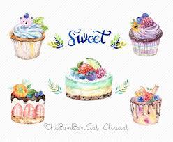 watercolor clipart watercolor cake Bakery Clipart cupcake clipart Wedding Cakes Clipart birthday cake clipart Valentine Cake Clipart