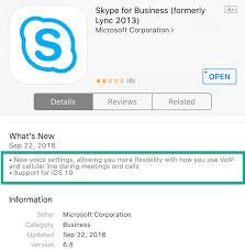 Skype For Business - IOS Update Features - Hab's Yealink W52p Ip Dect Phone W52h Cordless Handset 2pack Benefits Of Voip Blueline Telecom Bicom Systems Pbx Cloud Services Fxo Fxs Gateways 481632 Ports Ofxs Voip Nodes Up Network And Solutions Hosted Tietechnology Business Features Hiline Supply Ip Pbx Solution Voip Axvoice Voip Service Provider Full Review Sa Soft Voipswitch Android And Ios Apps 1 Pittsburgh Pa It Perfection Inc