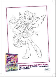 My Little Pony Equestria Girls Coloring Pages Twilight Sparkle Image