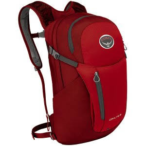 Osprey Daylite Plus Backpack with Padded Laptop and Tablet Sleeve - Red, One Size
