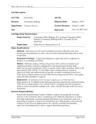 Sample Resume For Retail Banker Fresh Bank Teller With No Experience O